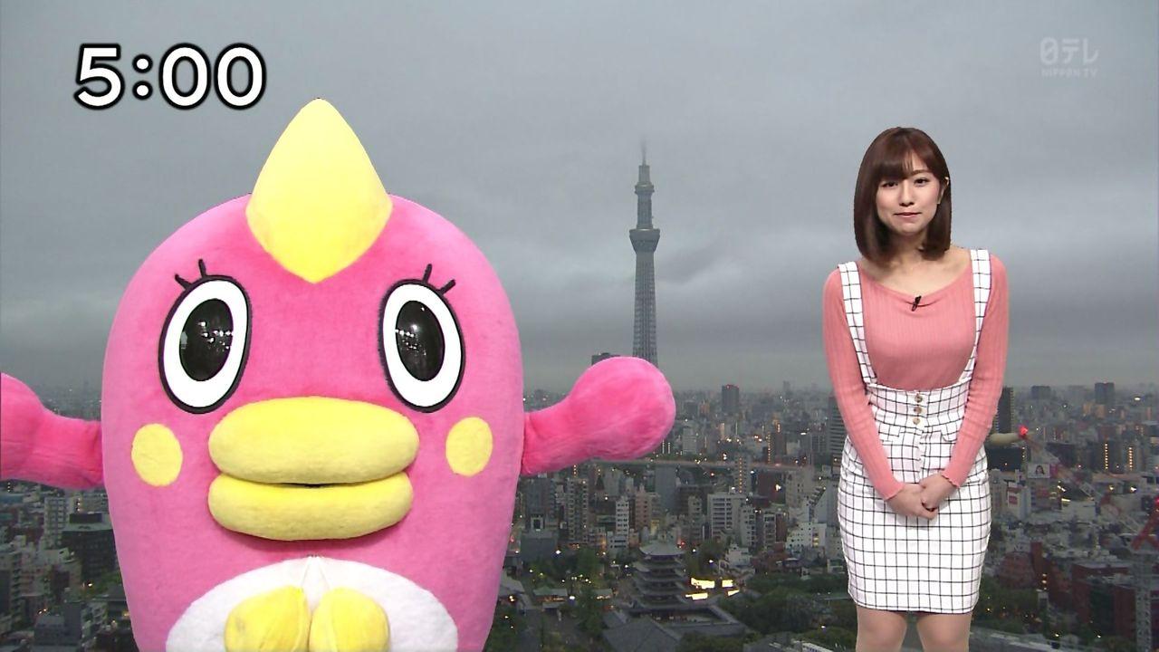 【デカ杉注意】この気象予報士のおっpいが女型巨人レベルの放送事故wwwwwwww(※画像あり)